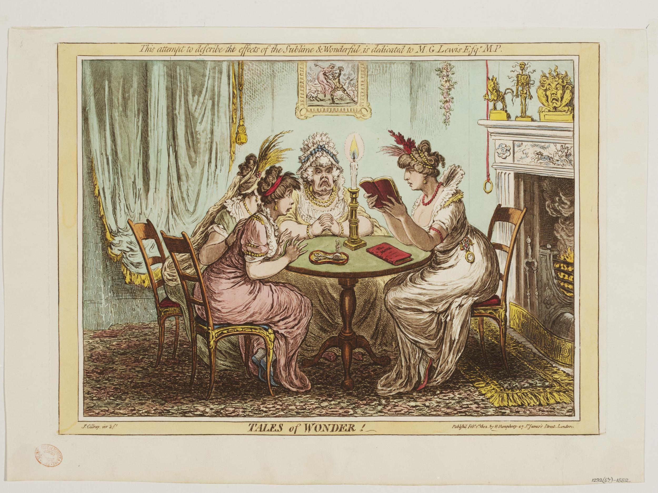 Image of ladies reading a gothic novel