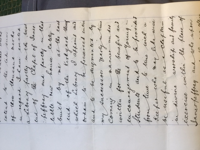 Will of the Founder of Innerpeffray Library