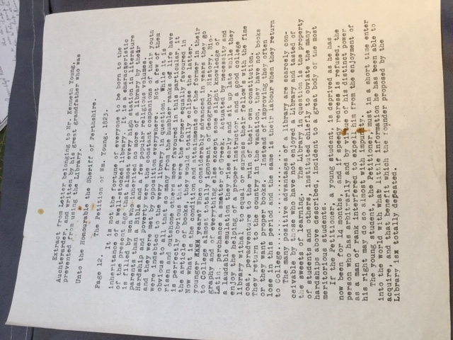 Transcription of William Young's Petition