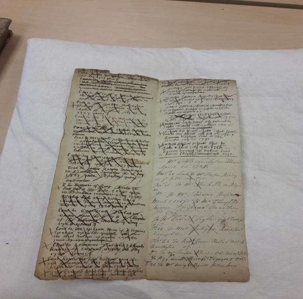 Earliest Borrowing Register from Leighton Library