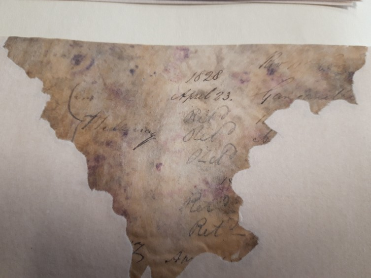 Fragment of Leigthon Borrowers register