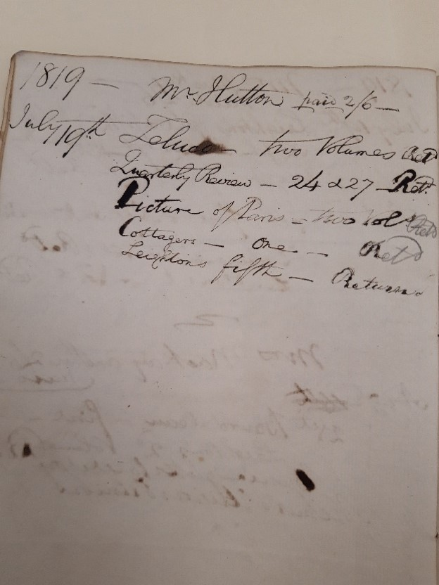 Page of Water Drinkers Register