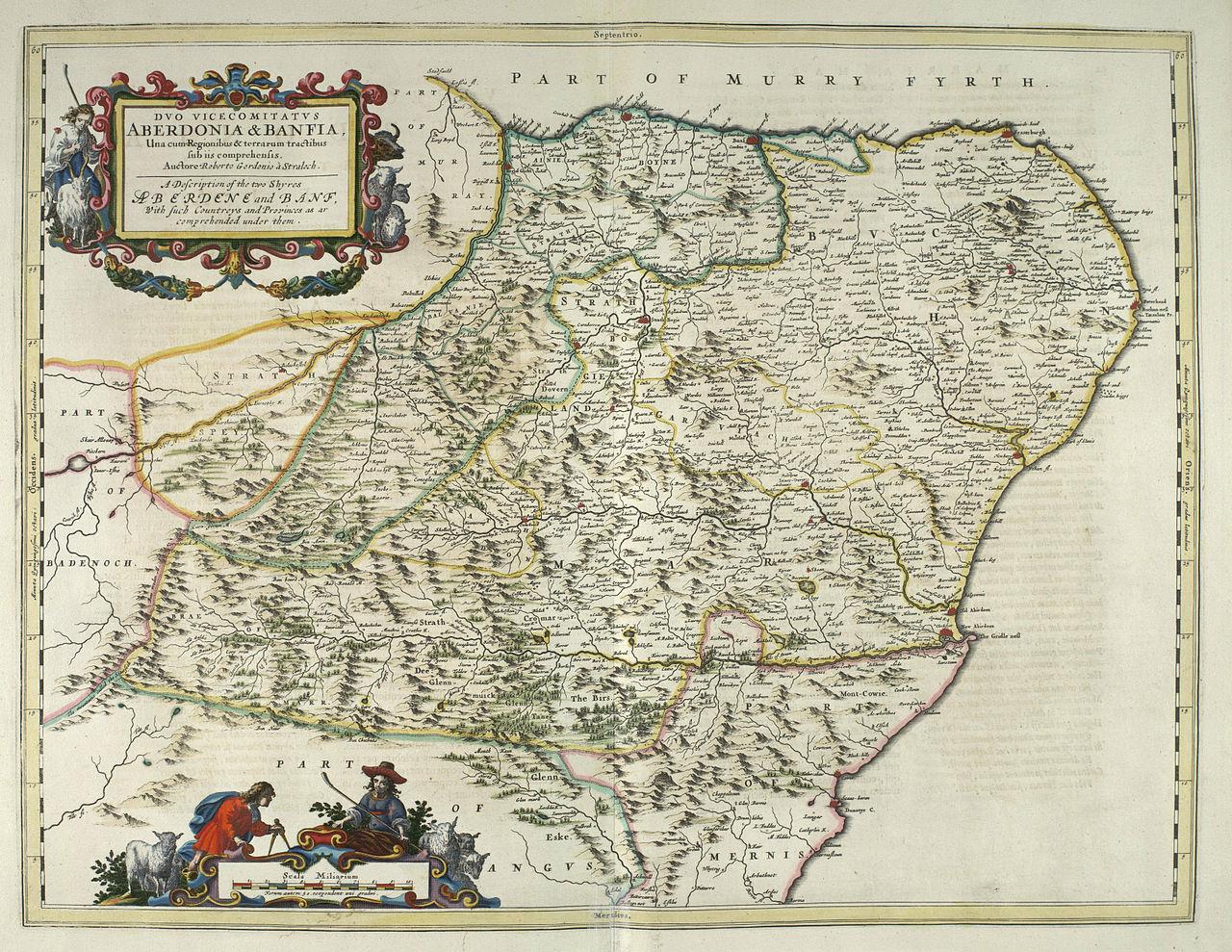 map of Aberdeenshire