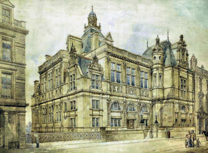 Drawing of Edinburgh Central Library