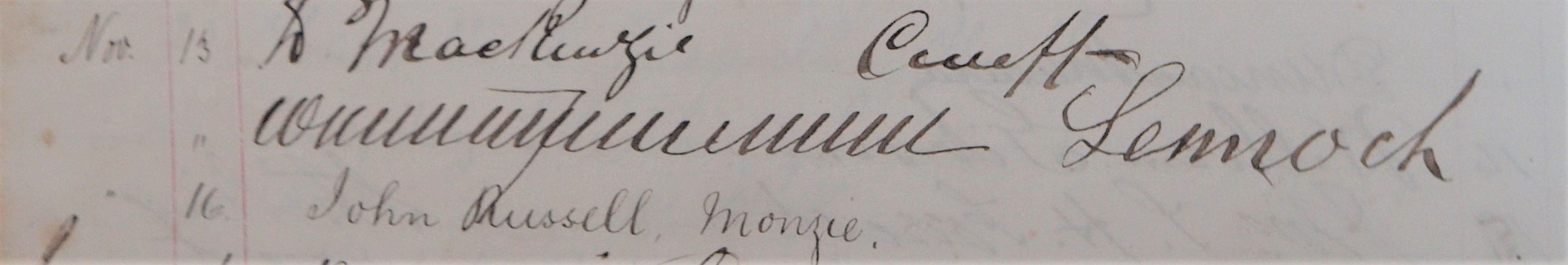 Innerpeffray Library Visitor Book Volume 1, f.40v, showing visitors from November 1878