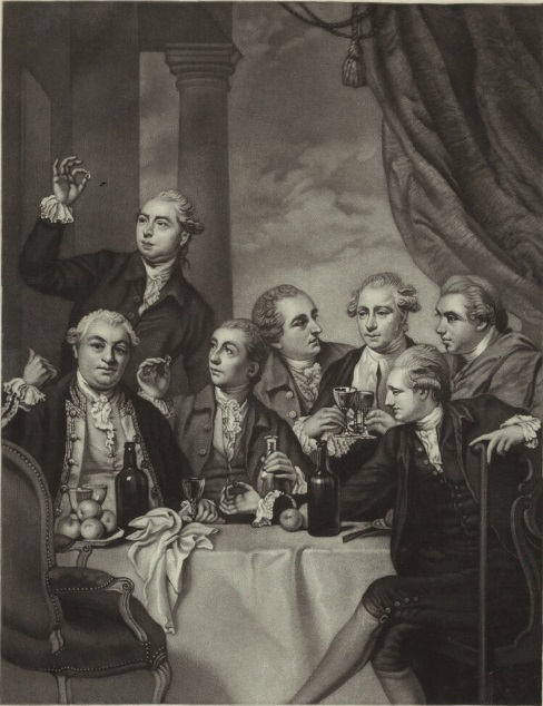 'The Dilettanti Society', by Charles Algernon Tomkins, after Sir Joshua Reynolds. Credit: National Portrait Gallery, NPG D32326.