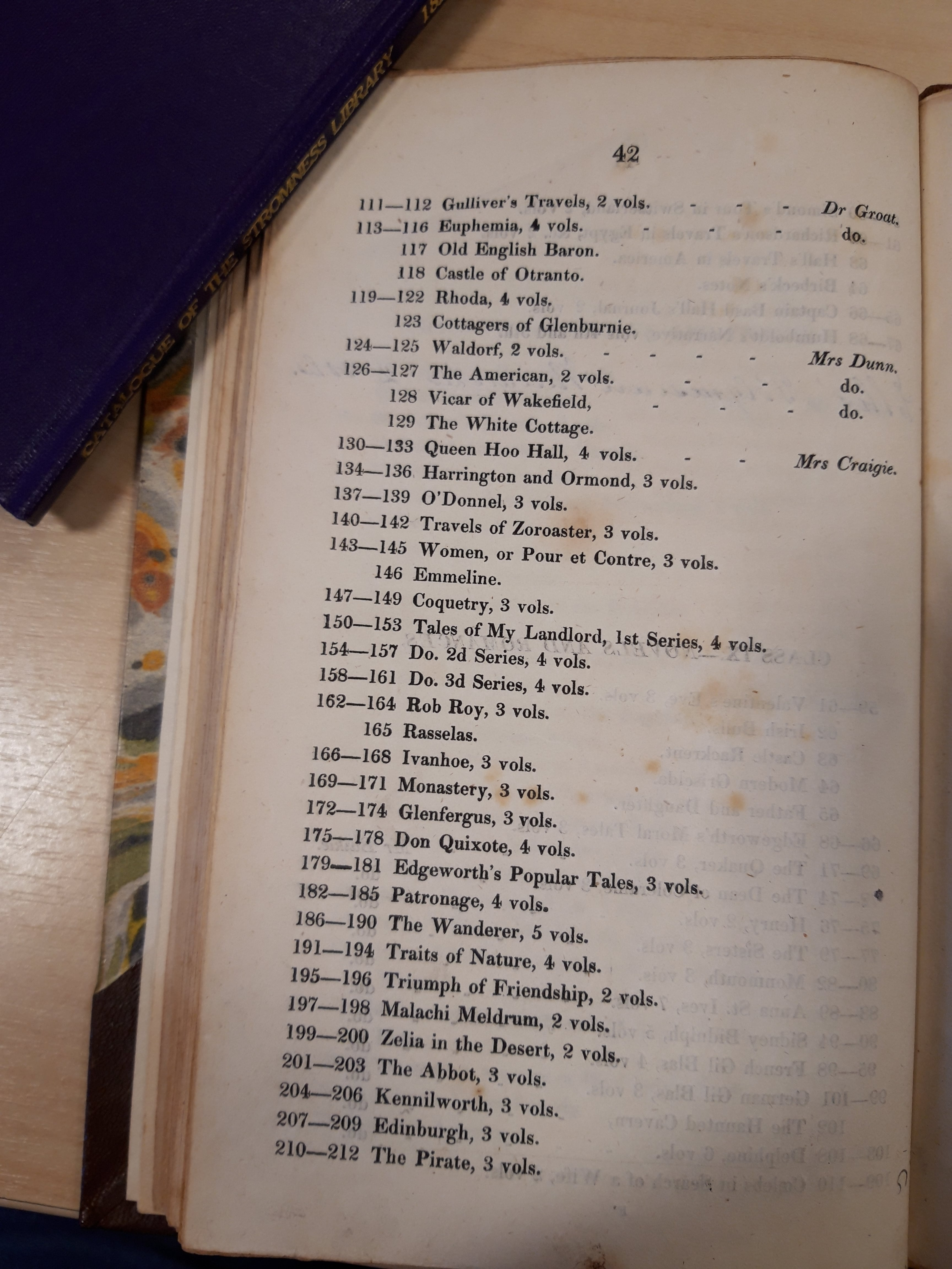 The Pirate listed in the Supplement to the 1816 Orkney Library catalogue