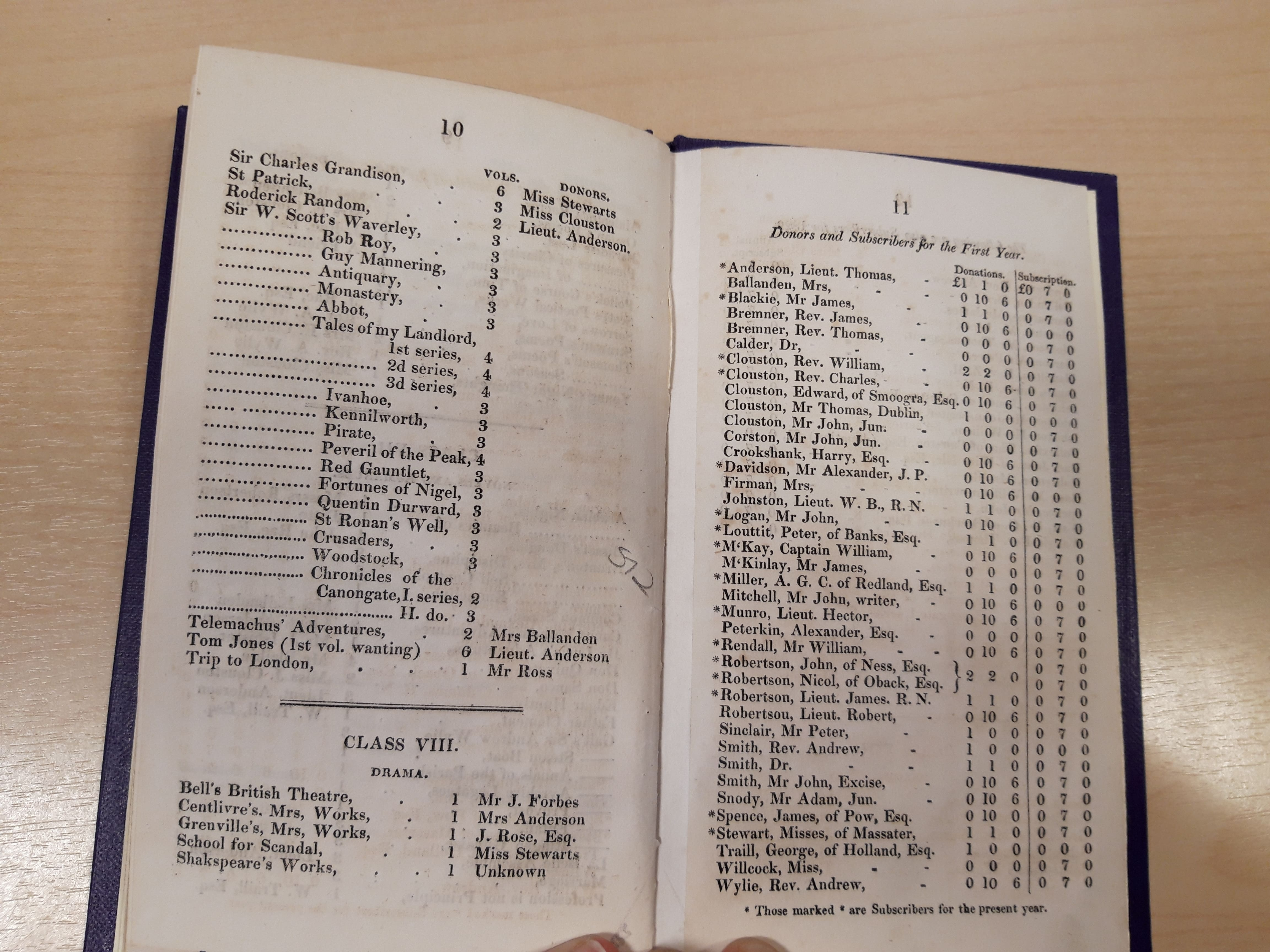 Image of Stromness Library catalogue showing entry for Sir Charles Grandison