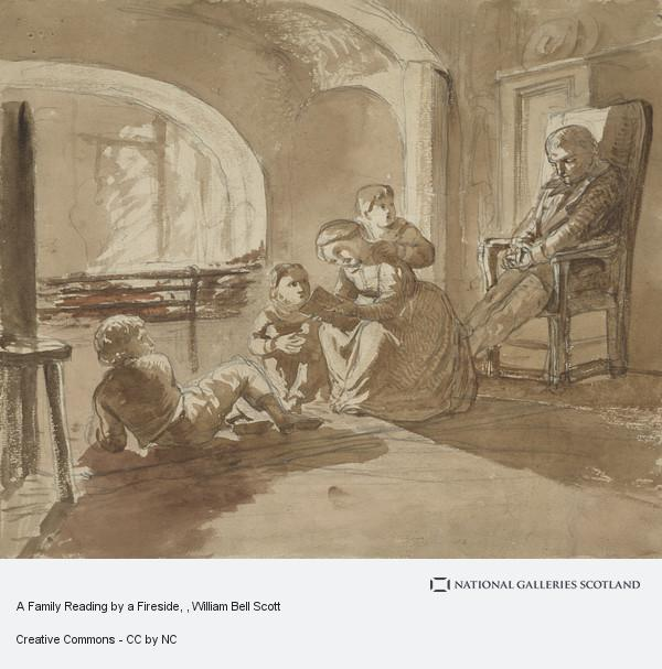 Depiction of a family reading together
