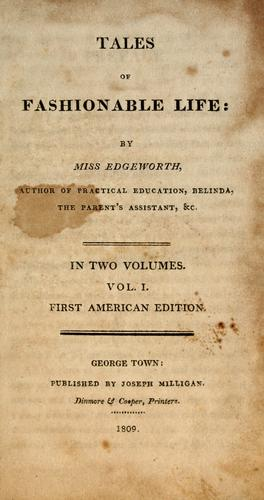 Title page of Tales of Fashionable Life