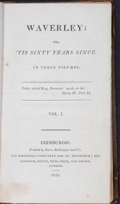 Title page of Scott's Waverley